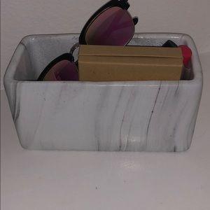 Marble Makeup Storage